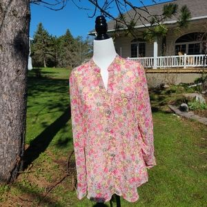 Kut From the Cloth Pink Floral Top
